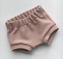 Shortje rib old pink