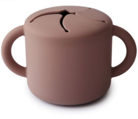 Snack Cup Mushie Cloudy Mauve