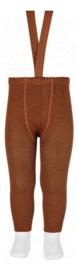 Suspender tights zonder voetjes chocolate