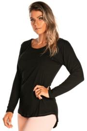 Inspire-shirt met lange mouwen, Zwart - maat S