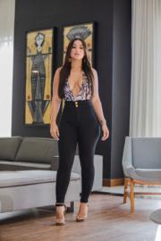 Mamacita, Magische Taille Modellering Broek - Zwart Denim