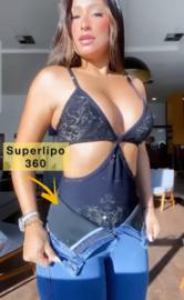 Mamacita, Super Lipo 360 Jeans met Geintegreerde Taille band - Jeans