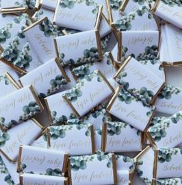 Eucalyptus bladeren met goud tekst (20st.)