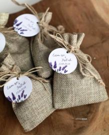 Jute zakjes met lavendel