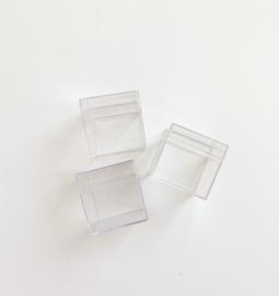 Transparante vierkante kubus