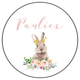 Pastel bloemen konijntje (35st.)