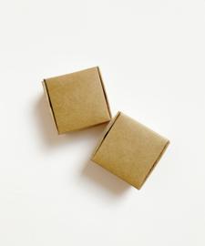 Kraft vierkant doosjes