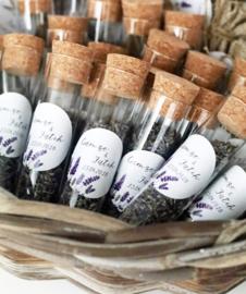 Buisjes met lavendel
