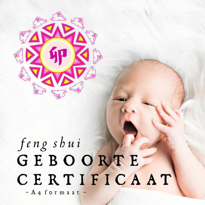 Feng Shui Geboorte Certificaat voor de kinderkamer