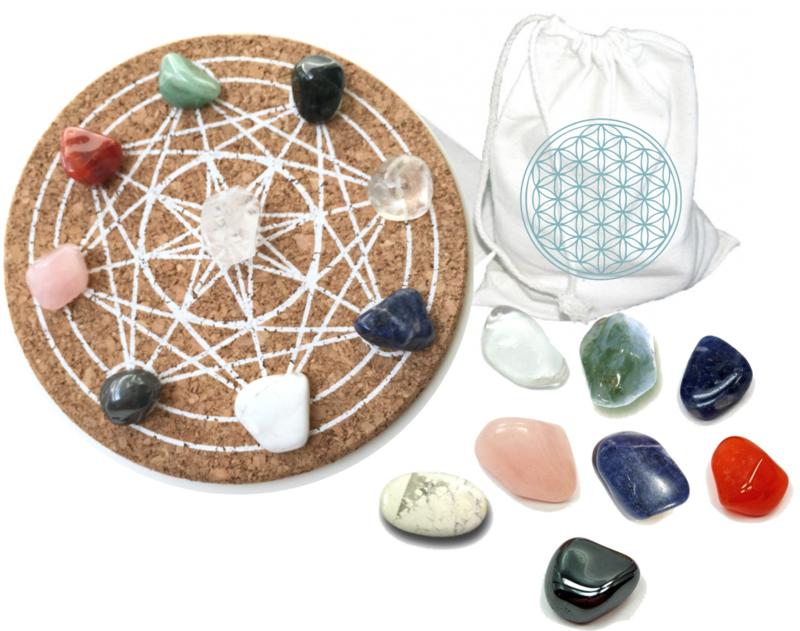 Feng Shui Crystal Grid - Kristallen Raster (Complete Set)