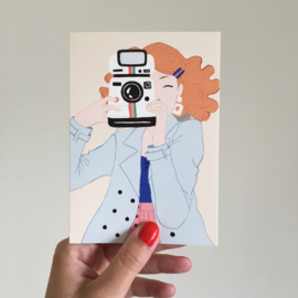 dubbele kaart polaroid