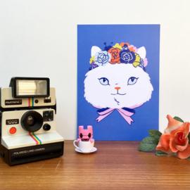 print flower crown cat