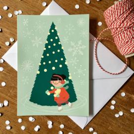 kerstkaart kerstboom