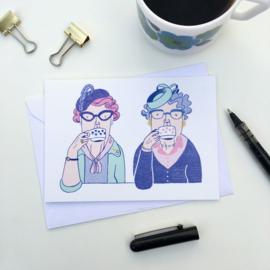dubbele kaart coffee klatch