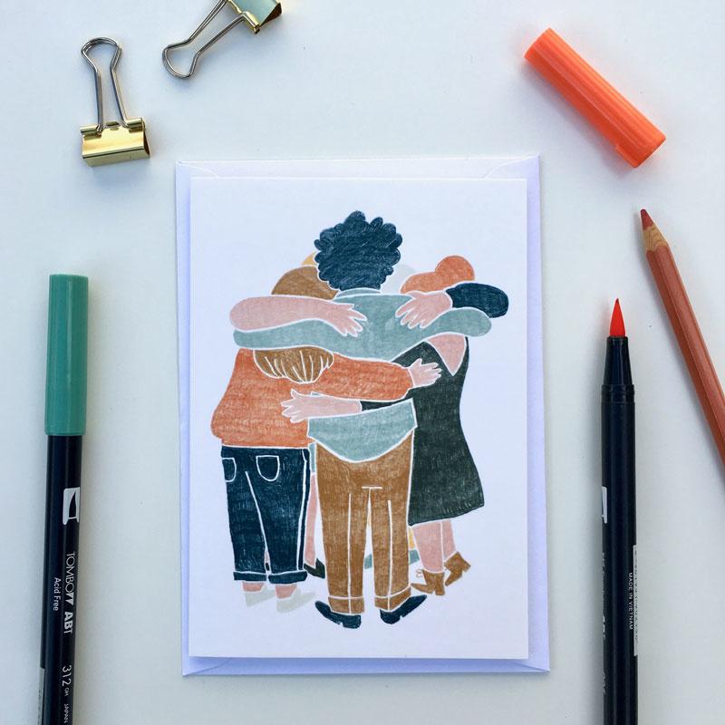 dubbele kaart group hug