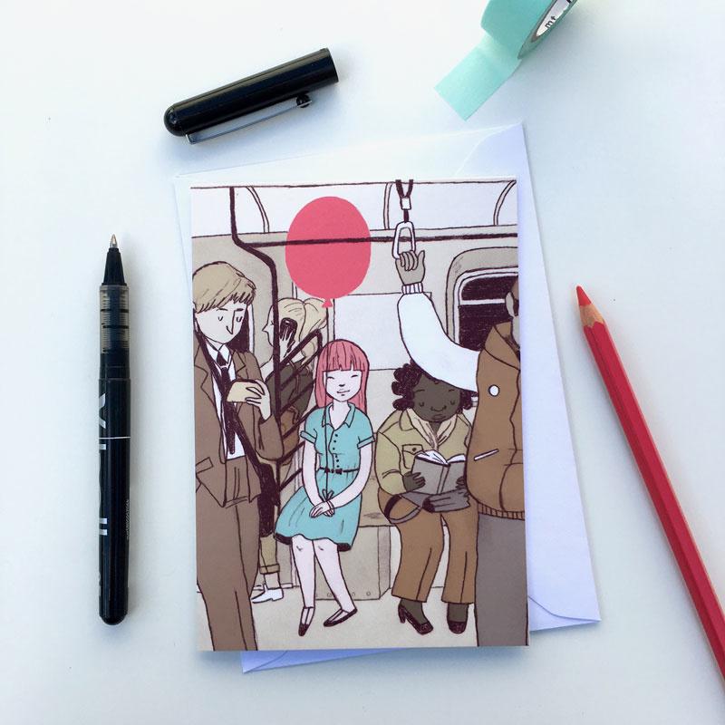 dubbele kaart subway balloon