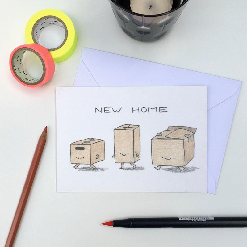 ansichtkaart new home