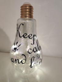Lamp 'Keep calm'