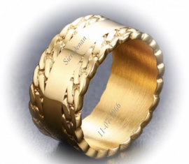Ring met datum- of naamgravering