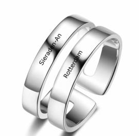 Ring met Gravering  2 Namen