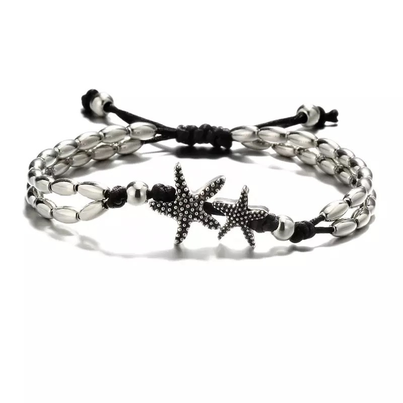 """Silver and Black Starfish"""