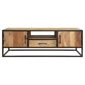 Tv meubel Denver | Mangohout en staal | 145 cm