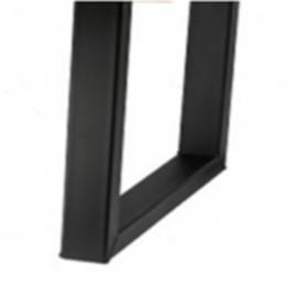 U-poot staal | Zwart | Extra breed
