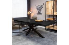 Eetkamertafel Denver Black | Rechthoek | 200 cm