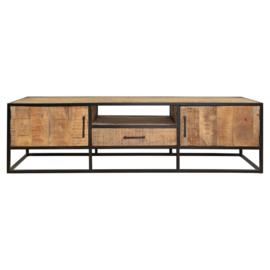 Tv meubel Denver | Mangohout en staal | 180 cm