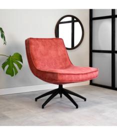 De draaibare fauteuil tommy velvet roze