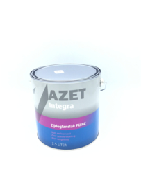 Azet watergedragen zijdeglanslak 2.5 Liter ( Gewenste kleur)