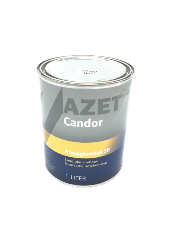 Azet Candor Hoogglans lak SB (1L Wit)