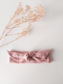 Suki haarbandje broderie - roze