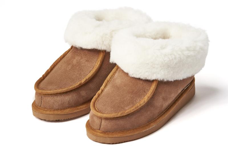 Pantoffels met bont