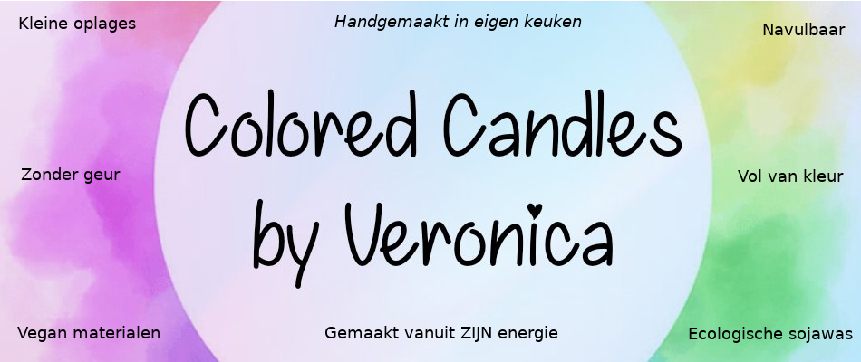 Colored Candles by Veronica