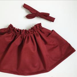Paperbag skirt suede velvet