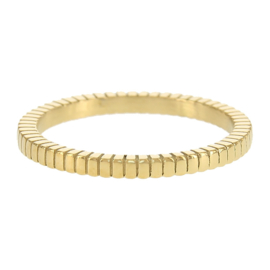 Kalli - Ring stripes gold color 4044G