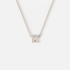 Orelia - Necklace Initial K Silver Plated
