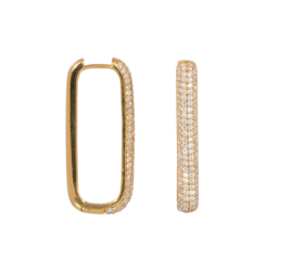 Eline Rosina - Large Icon Pavé Hoops