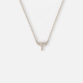 Orelia - Necklace Initial Y Silver Plated