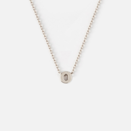 Orelia - Necklace Initial O Silver Plated