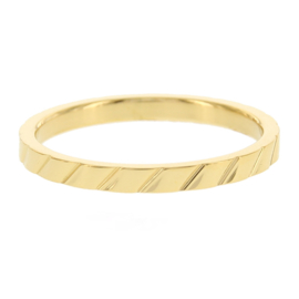 Kalli - Ring skew stripes gold color 4054G