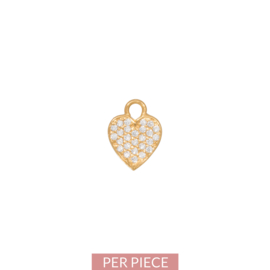 Eline Rosina - Mix and match single heart pendant in gold plated