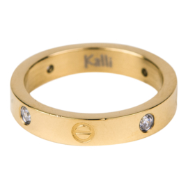 Kalli - Ring crystal and screw motiv 4025G