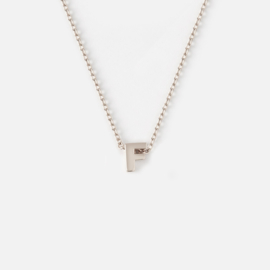 Orelia - Necklace Initial F Silver Plated