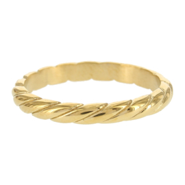 Kalli - Ring slant gold color - 4046G