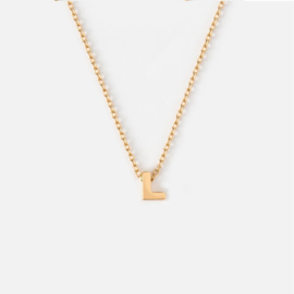 Orelia - Necklace Initial L Gold Plated