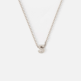 Orelia - Necklace Initial S Silver Plated