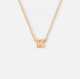 Orelia - Necklace Initial K Gold Plated