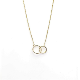 Karma - Double Circle Gold Plated